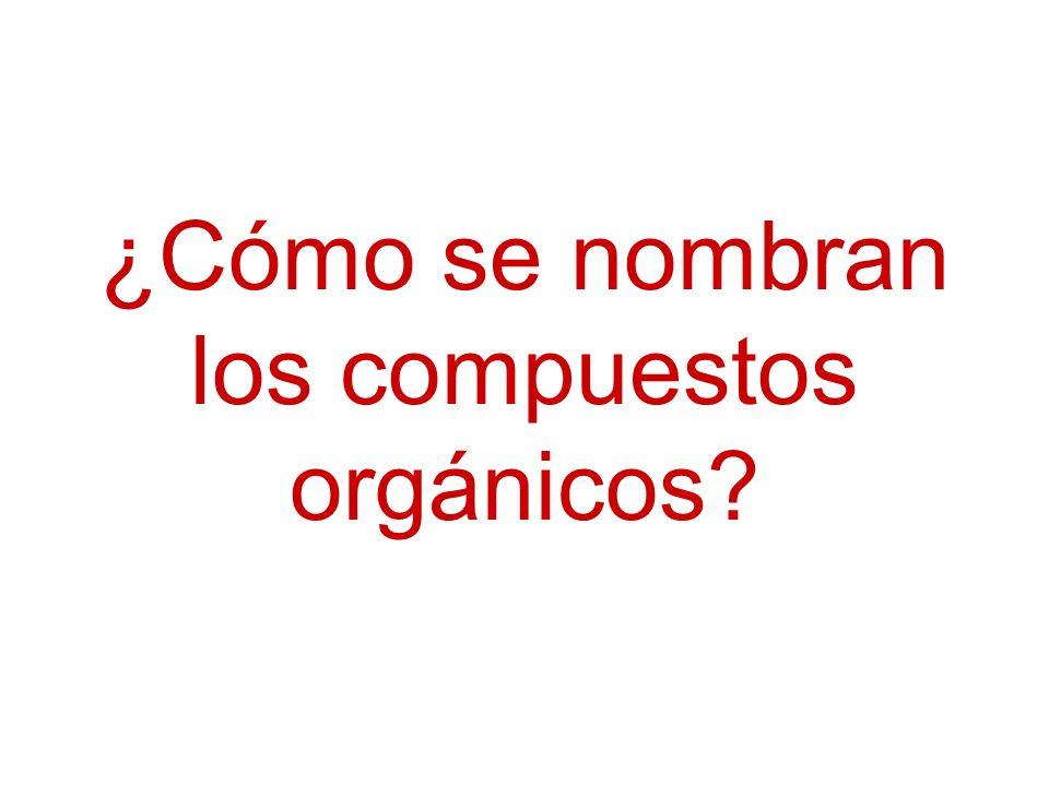 ¿Cómo se nombran los compuestos orgánicos