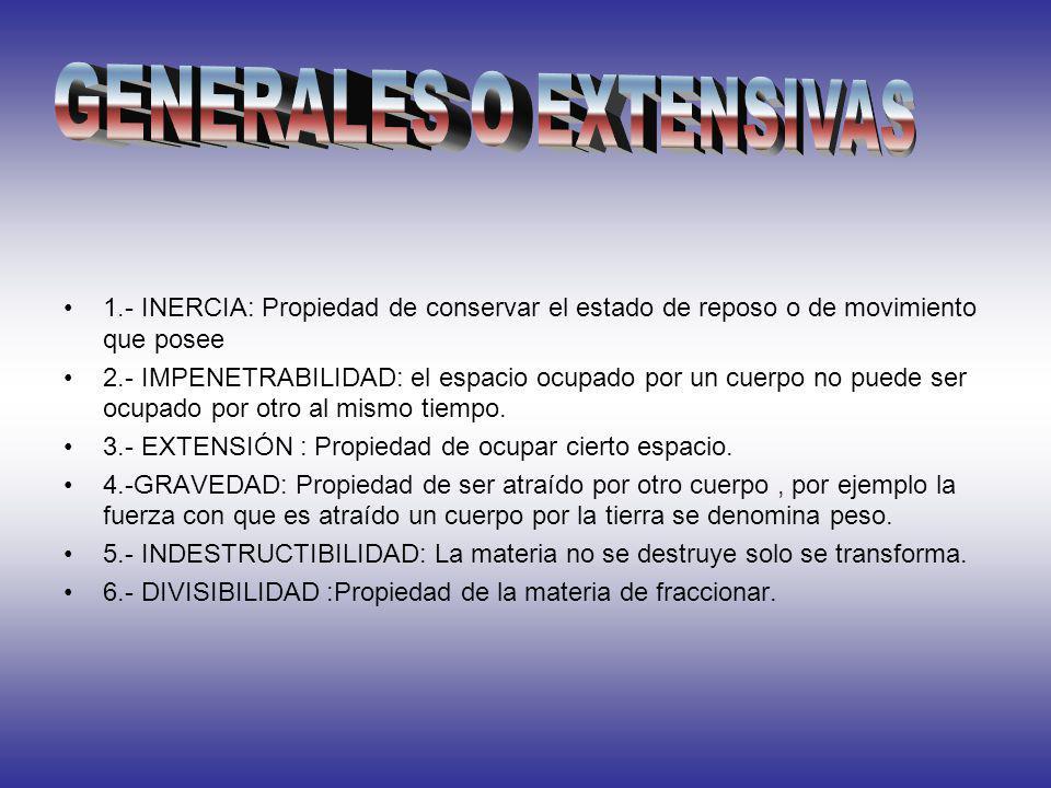 GENERALES O EXTENSIVAS