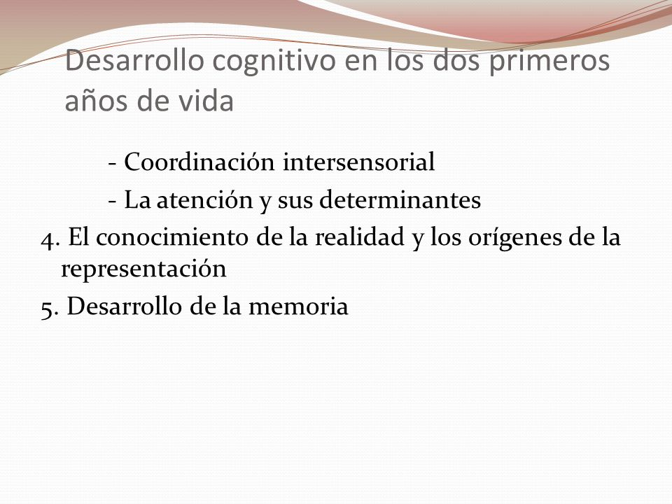 Desarrollo cognitivo en los dos primeros años de vida