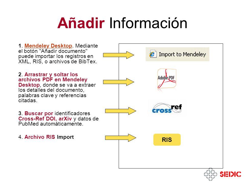 Añadir Información RIS