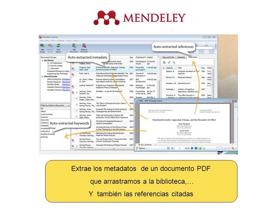 Extrae los metadatos de un documento PDF