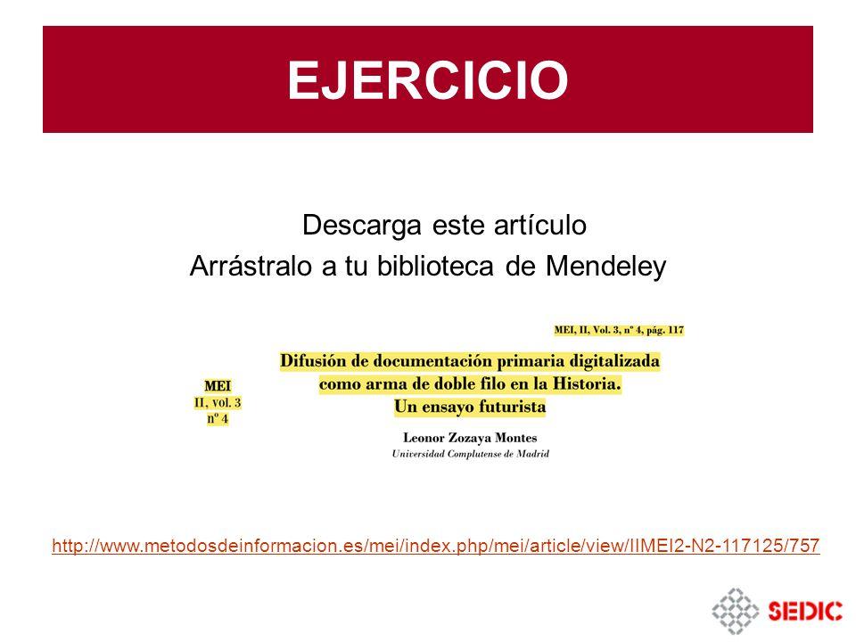 EJERCICIO Descarga este artículo