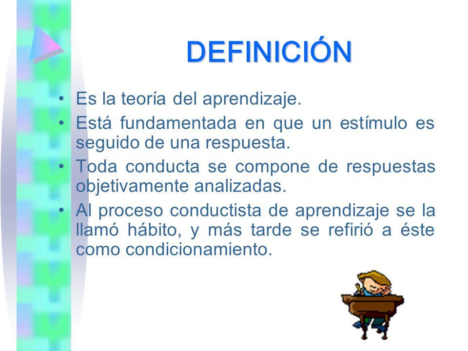 DEFINICIÓN Es la teoría del aprendizaje.