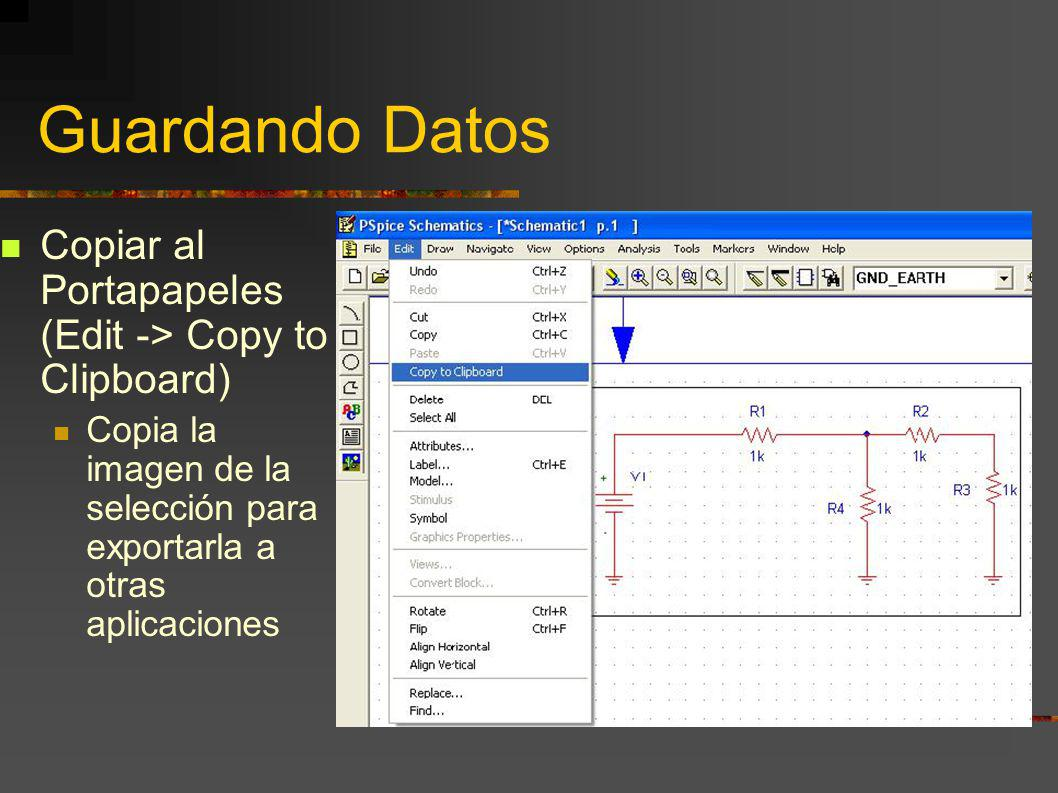 Guardando Datos Copiar al Portapapeles (Edit -> Copy to Clipboard)