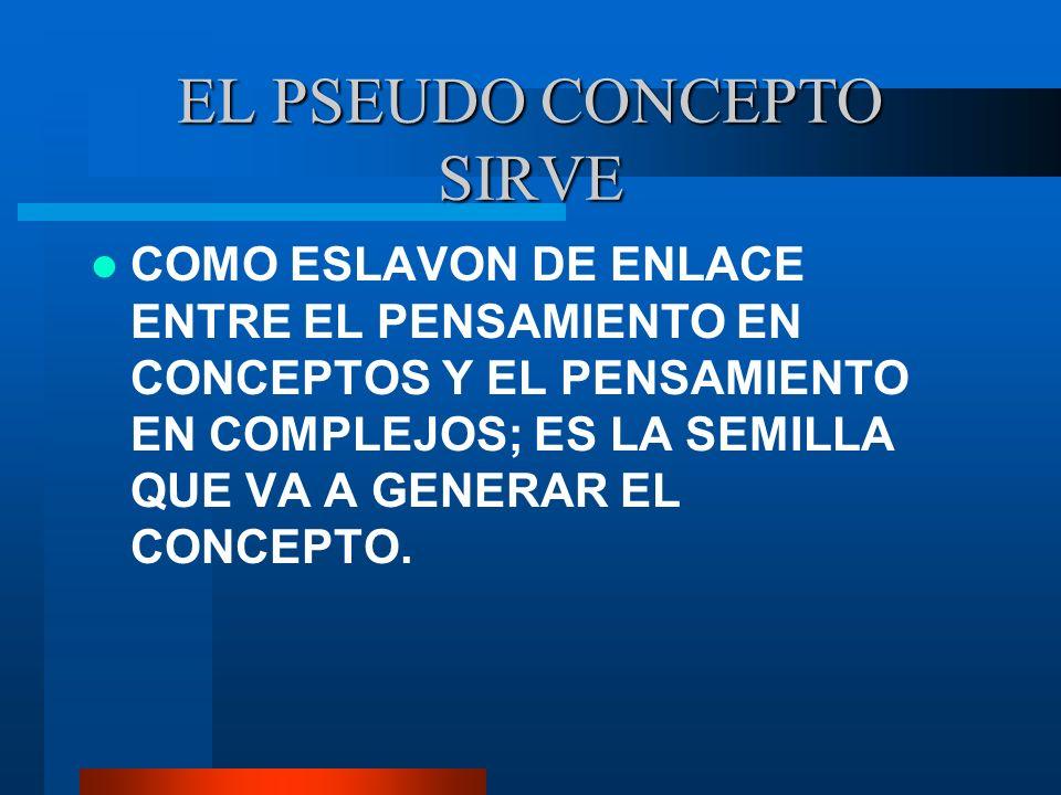 EL PSEUDO CONCEPTO SIRVE