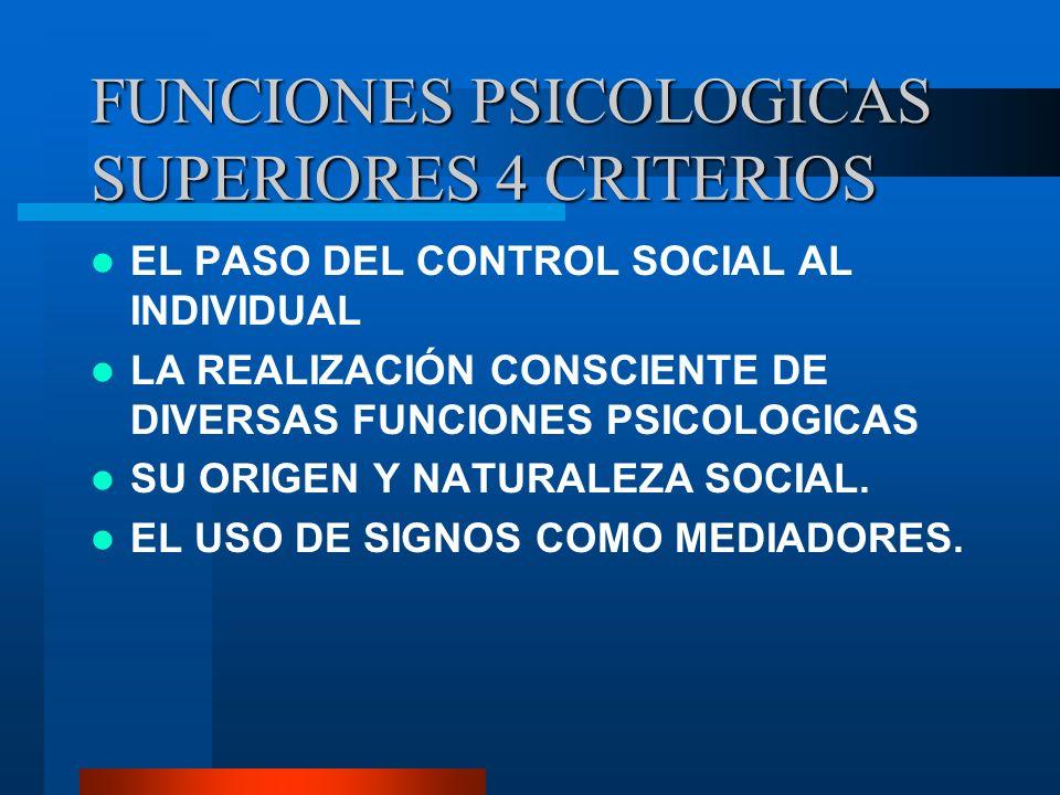 FUNCIONES PSICOLOGICAS SUPERIORES 4 CRITERIOS