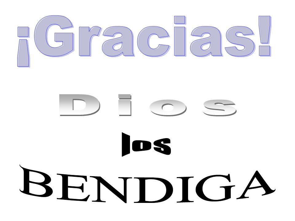¡Gracias! Dios los BENDIGA