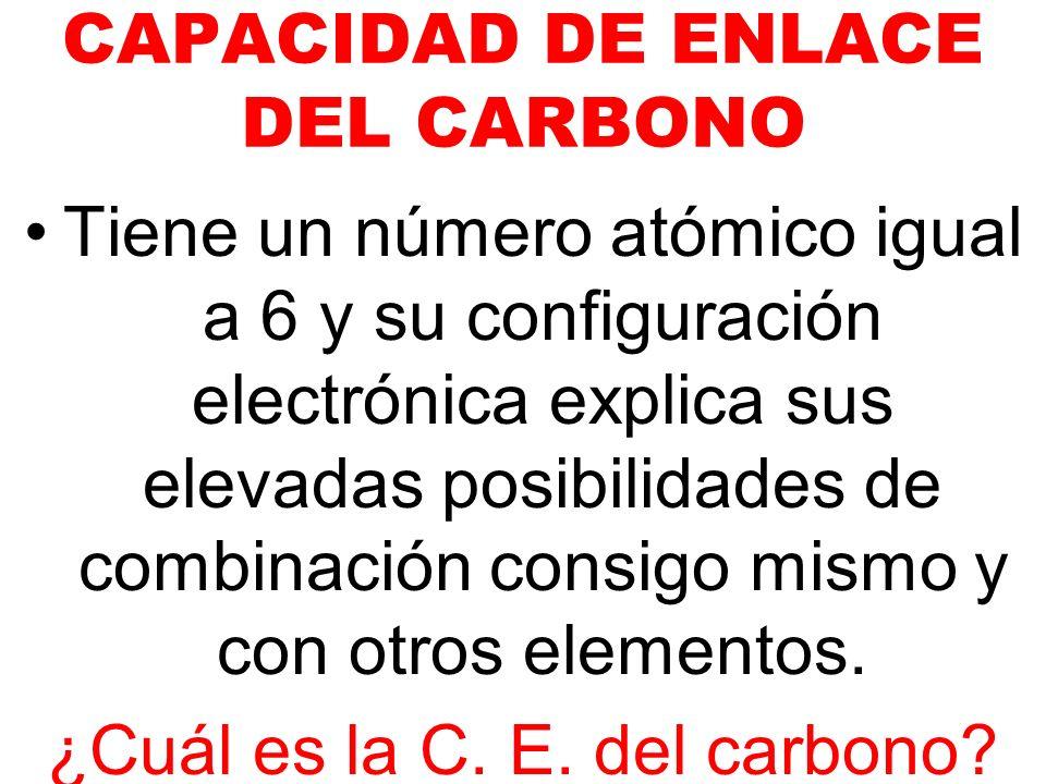 CAPACIDAD DE ENLACE DEL CARBONO