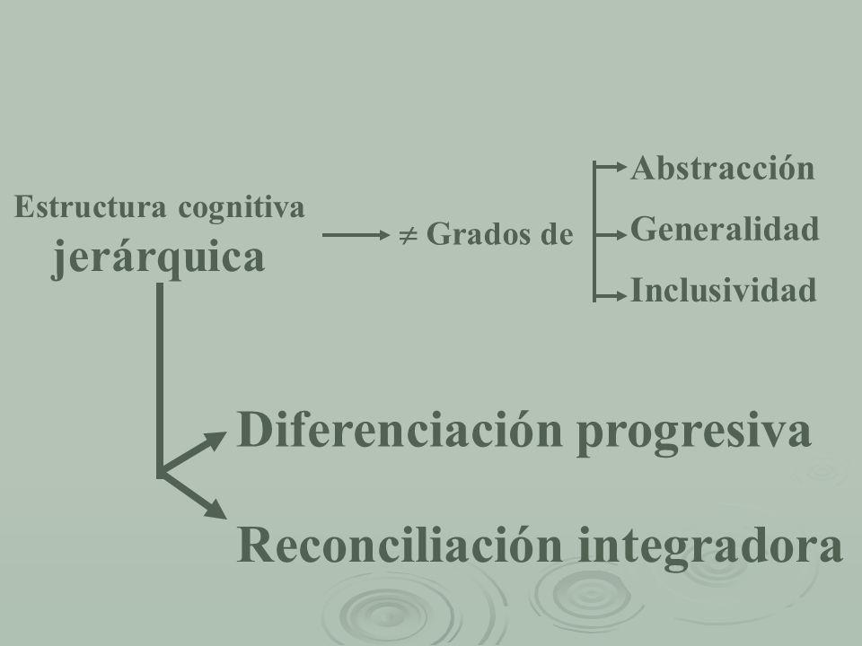 Estructura cognitiva jerárquica