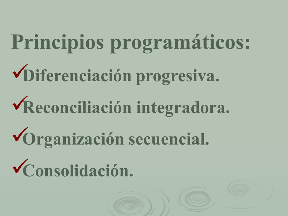 Principios programáticos: