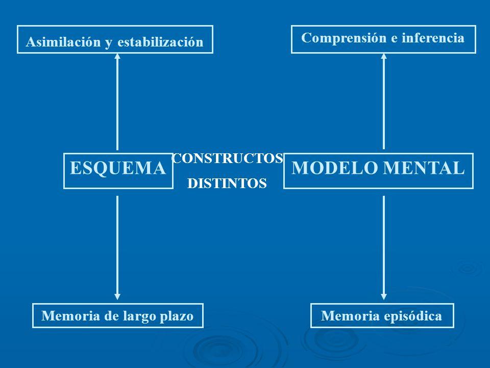 ESQUEMA MODELO MENTAL Asimilación y estabilización