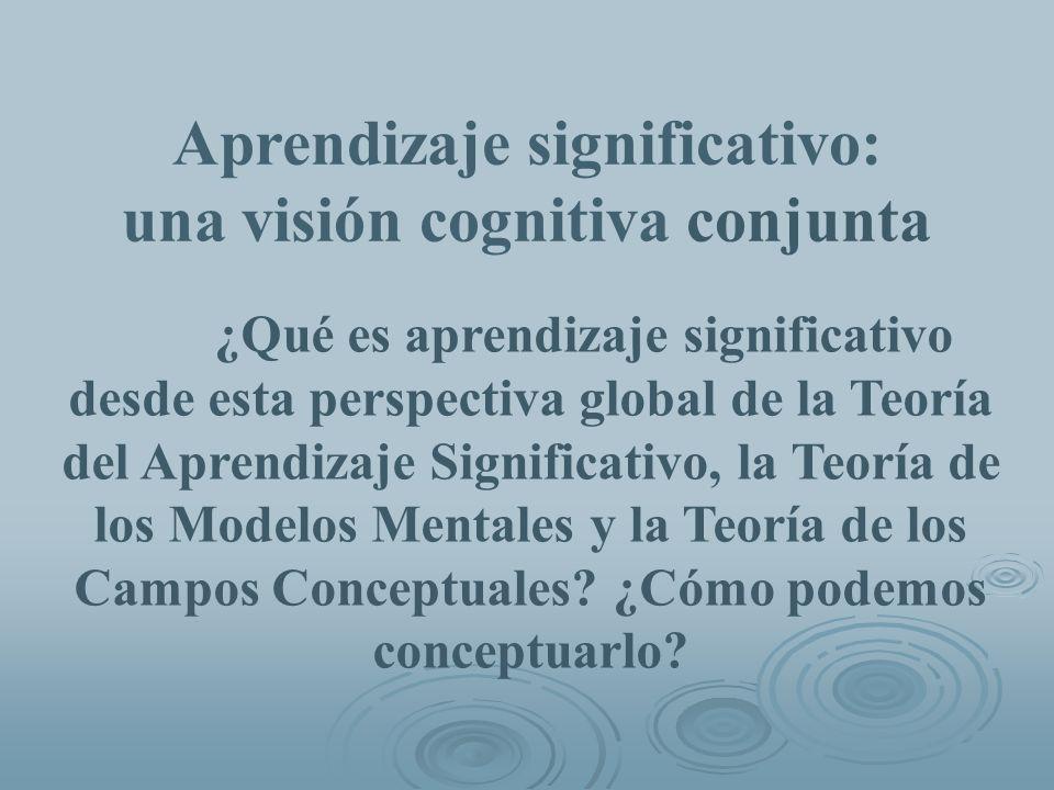 Aprendizaje significativo: una visión cognitiva conjunta