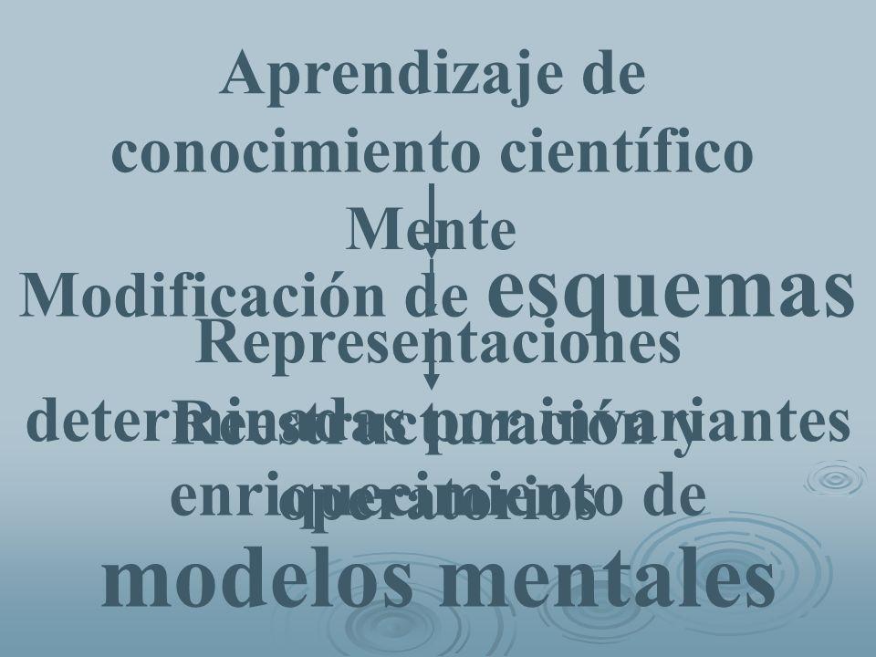 modelos mentales Aprendizaje de conocimiento científico