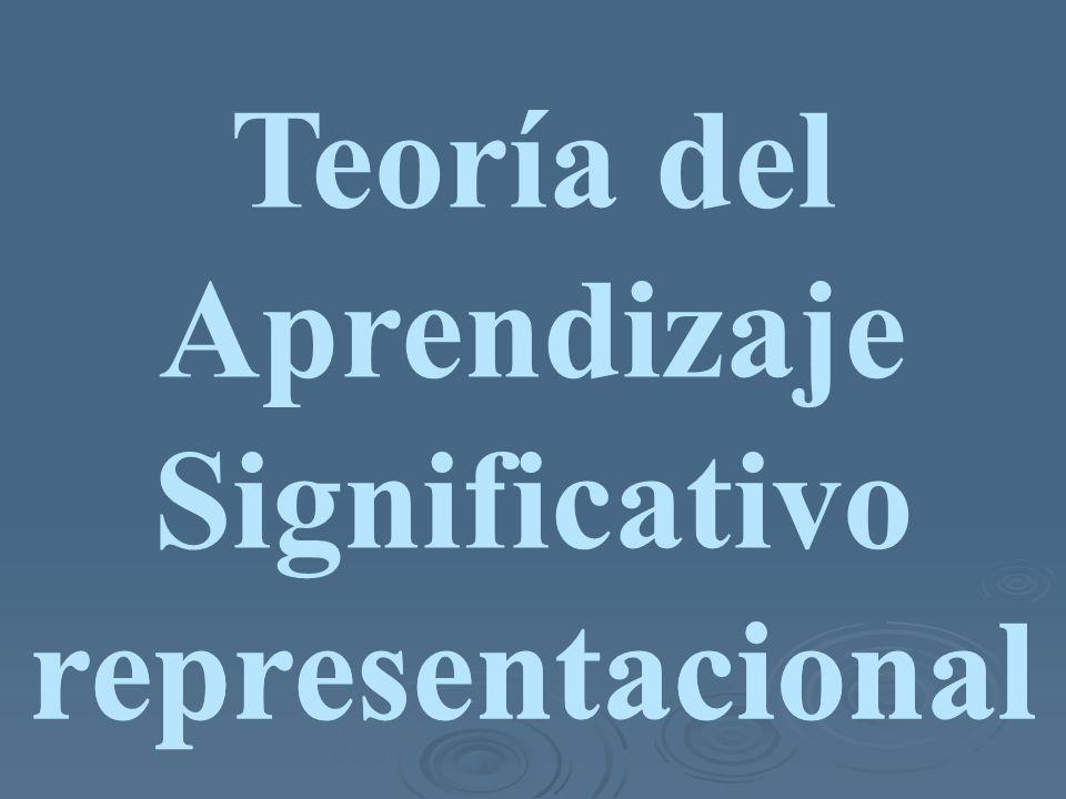 Teoría del Aprendizaje Significativo representacional