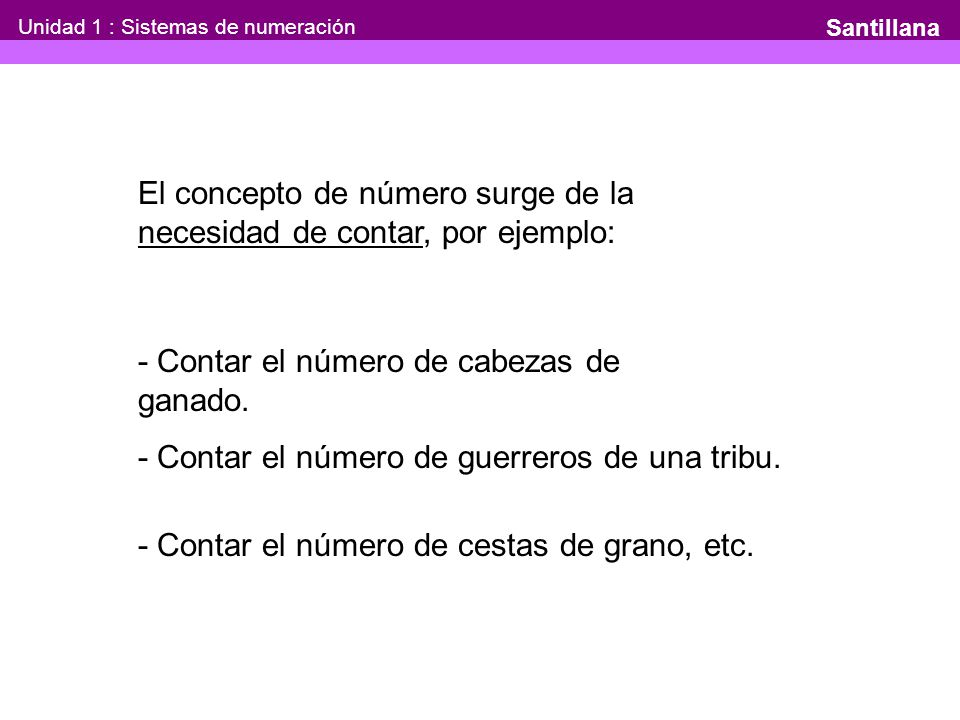Unidad 1 : Sistemas de numeración