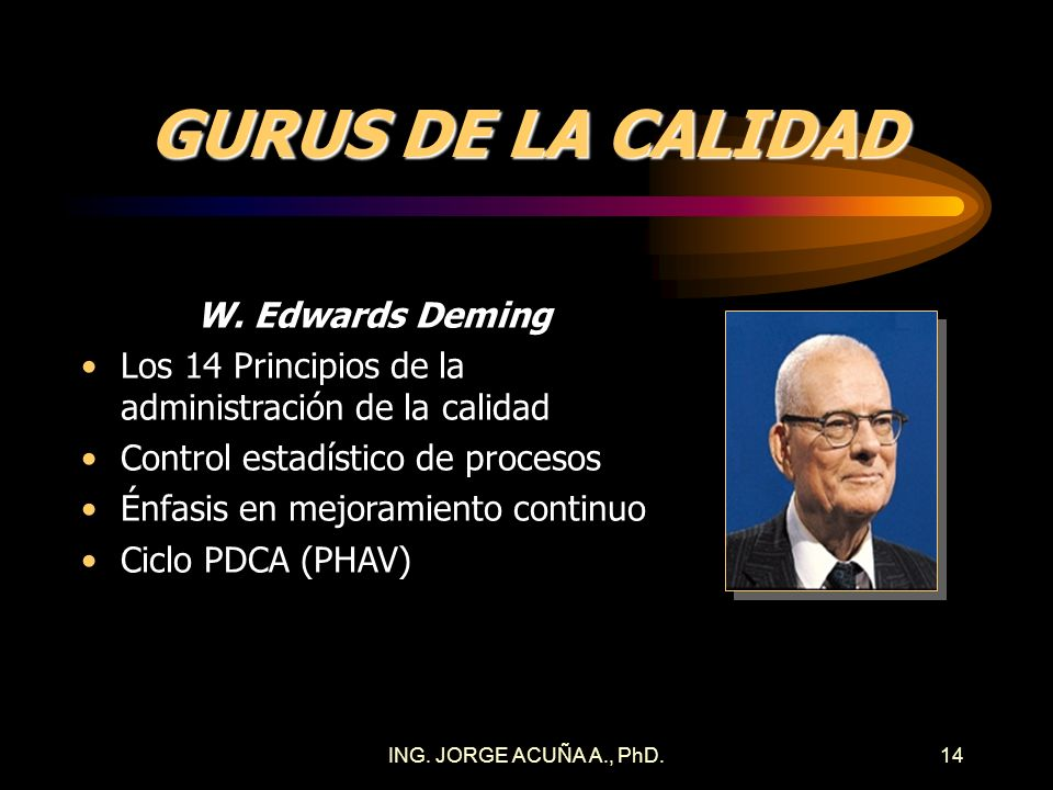 GURUS DE LA CALIDAD W. Edwards Deming