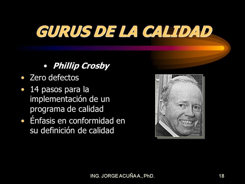 GURUS DE LA CALIDAD Phillip Crosby Zero defectos