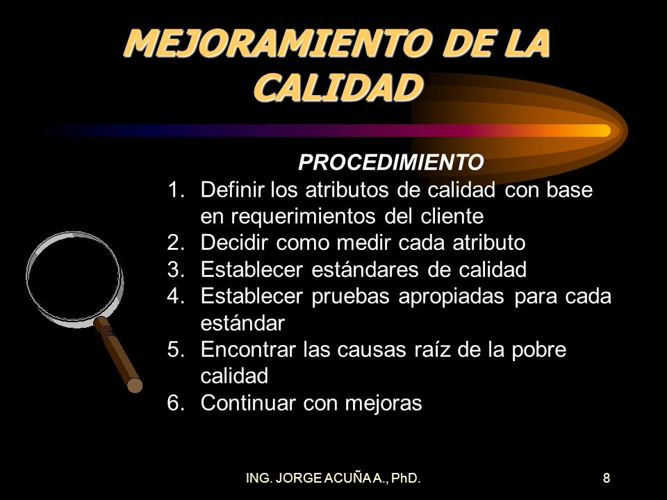 MEJORAMIENTO DE LA CALIDAD
