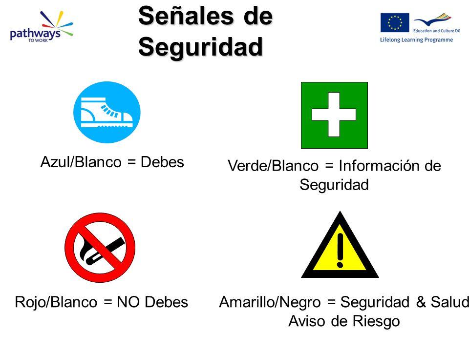 ! Señales de Seguridad Azul/Blanco = Debes