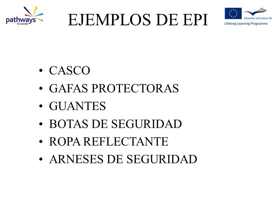 EJEMPLOS DE EPI CASCO GAFAS PROTECTORAS GUANTES BOTAS DE SEGURIDAD