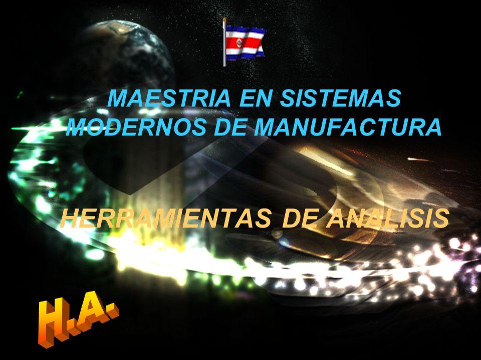 MAESTRIA EN SISTEMAS MODERNOS DE MANUFACTURA HERRAMIENTAS DE ANALISIS