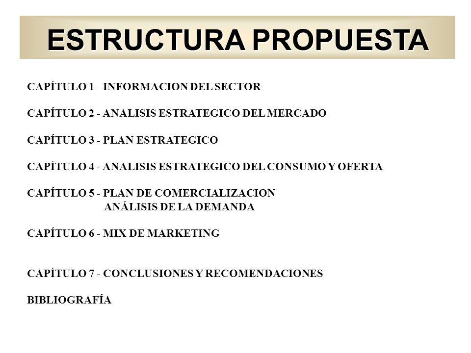 ESTRUCTURA PROPUESTA CAPÍTULO 1 - INFORMACION DEL SECTOR