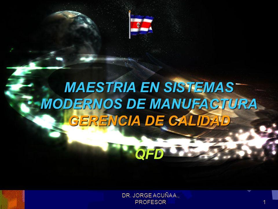 MAESTRIA EN SISTEMAS MODERNOS DE MANUFACTURA GERENCIA DE CALIDAD QFD