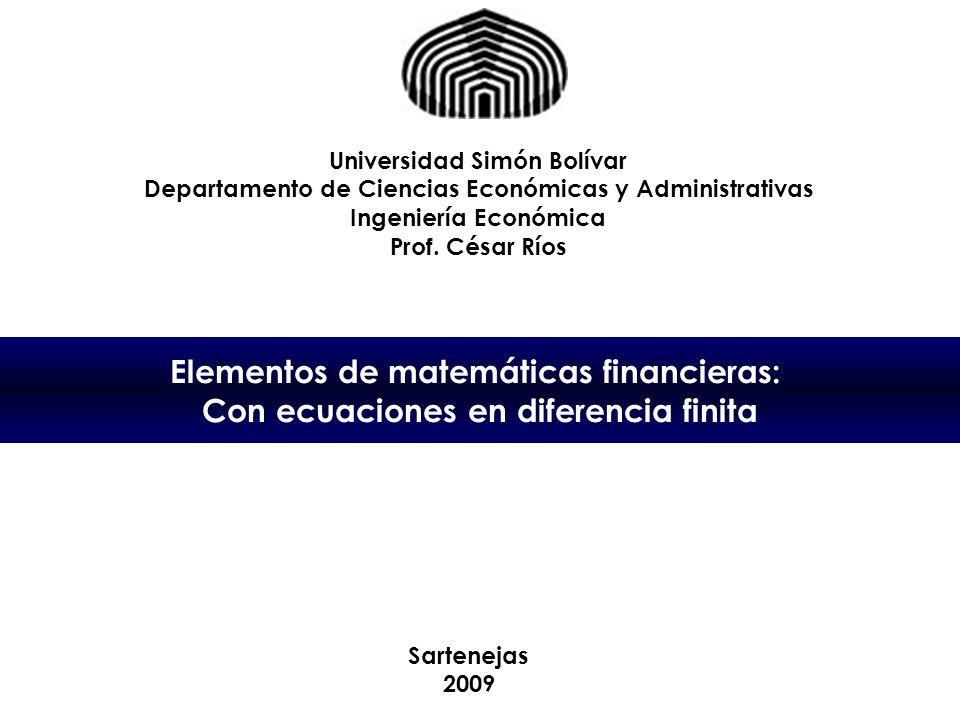 Elementos de matemáticas financieras:
