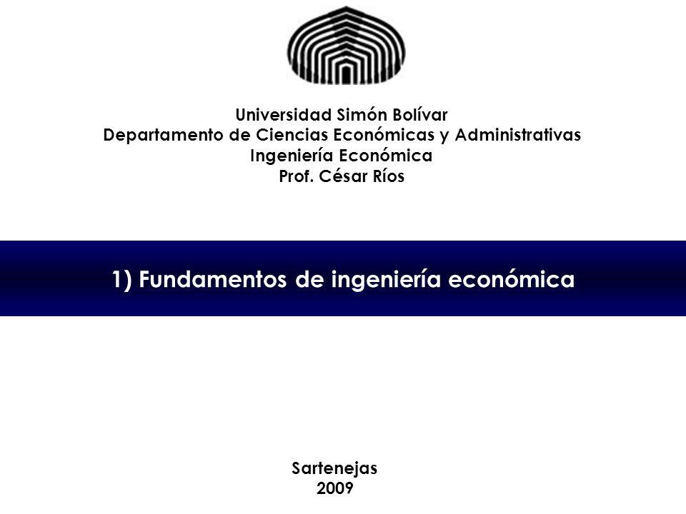 1) Fundamentos de ingeniería económica