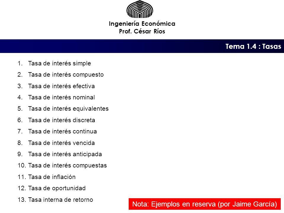 Nota: Ejemplos en reserva (por Jaime García)