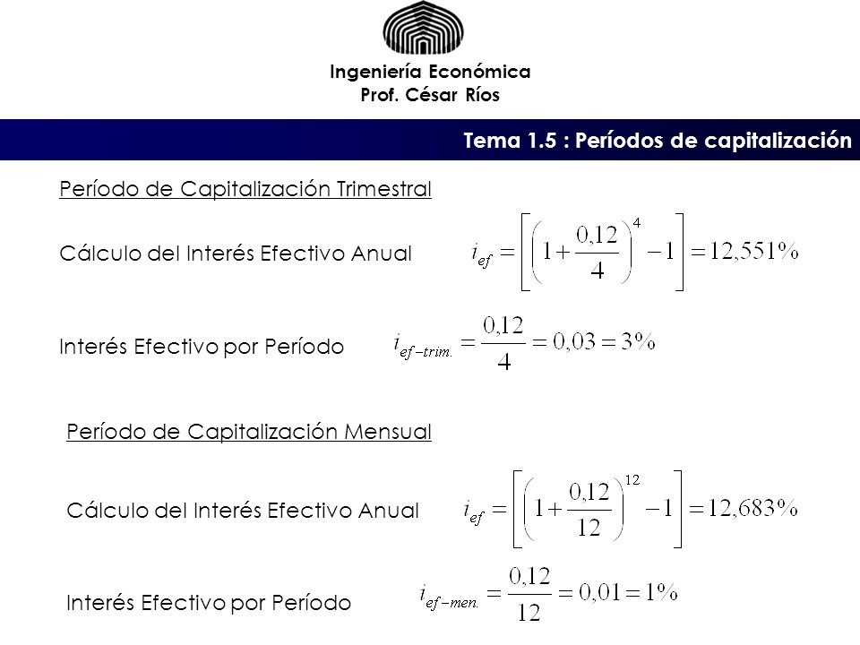 Tema 1.5 : Períodos de capitalización