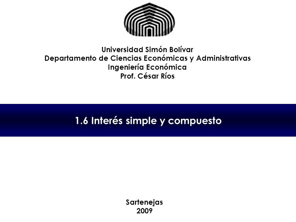 1.6 Interés simple y compuesto