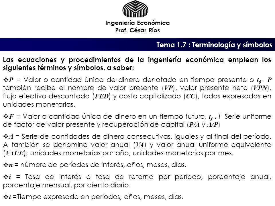 Tema 1.7 : Terminología y símbolos