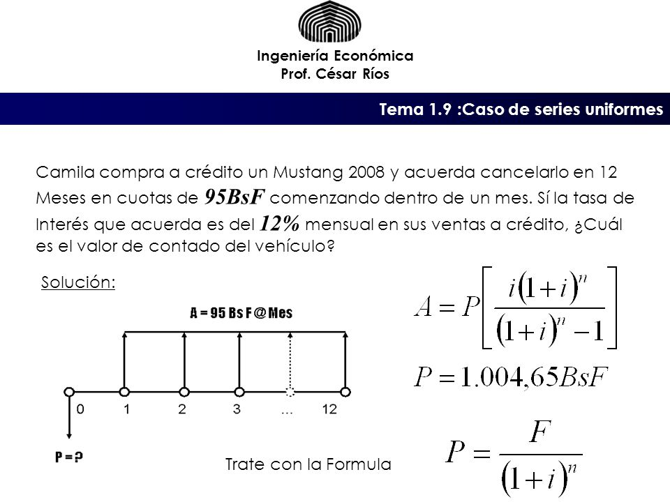 Tema 1.9 :Caso de series uniformes