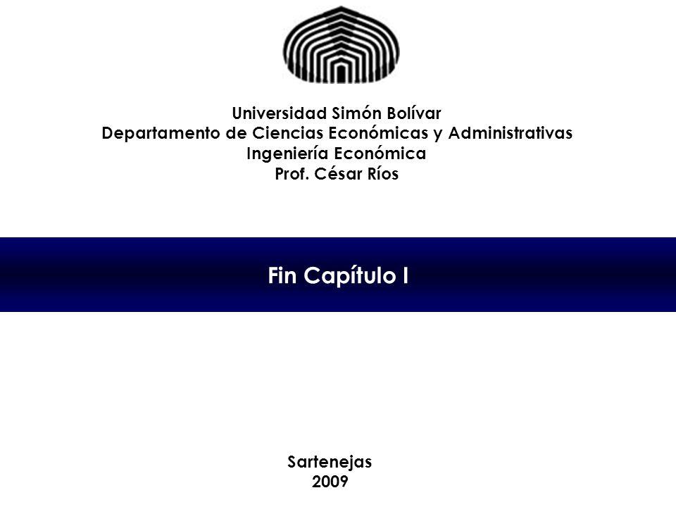 Fin Capítulo I Universidad Simón Bolívar
