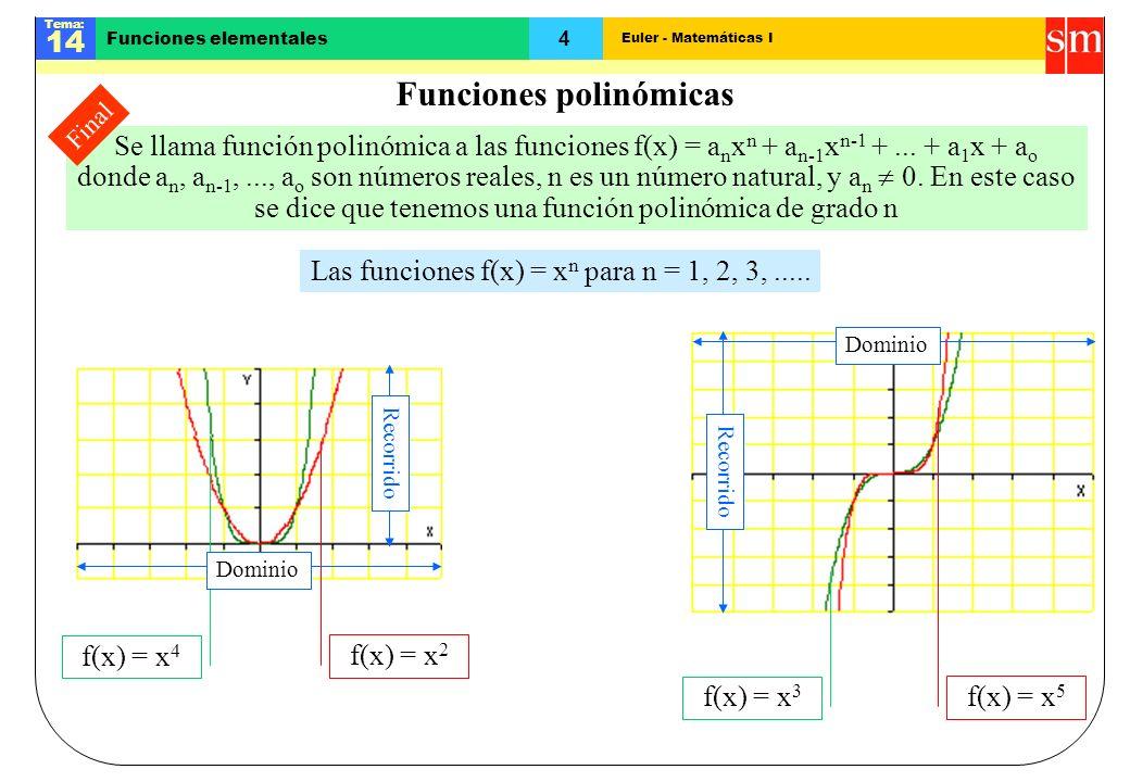 Funciones polinómicas
