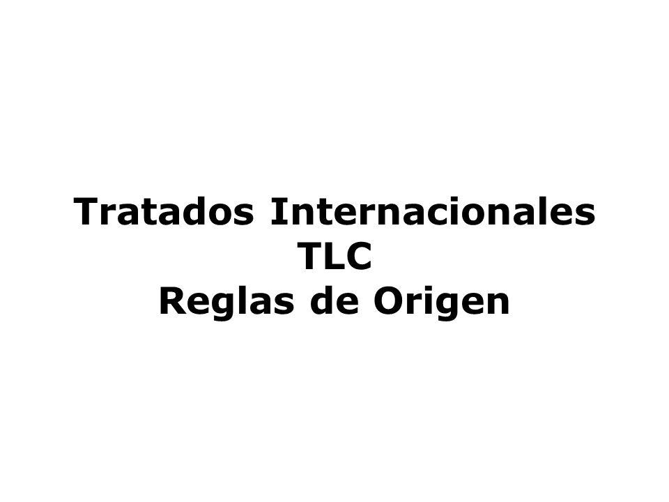 Tratados Internacionales TLC Reglas de Origen