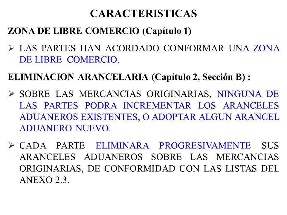 CARACTERISTICAS ZONA DE LIBRE COMERCIO (Capítulo 1)