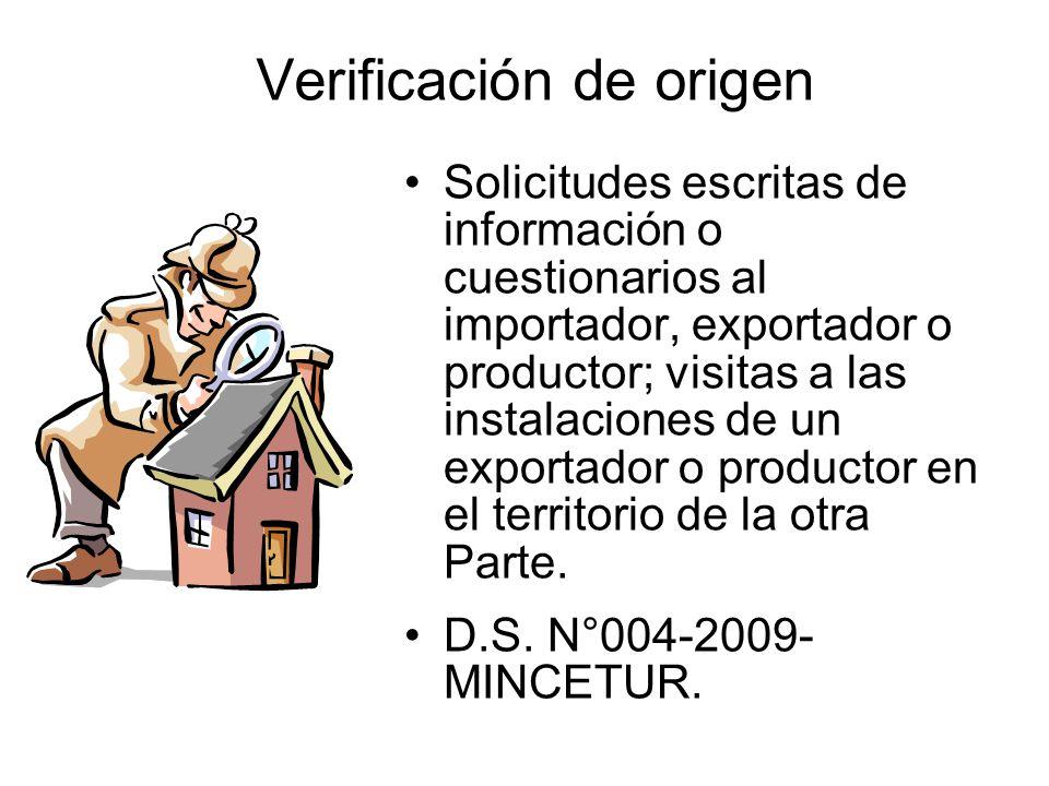 Verificación de origen