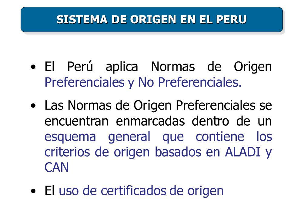 SISTEMA DE ORIGEN EN EL PERU