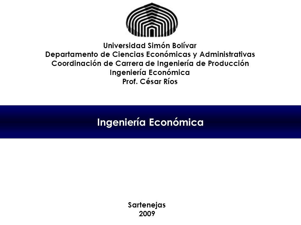 Ingeniería Económica Universidad Simón Bolívar