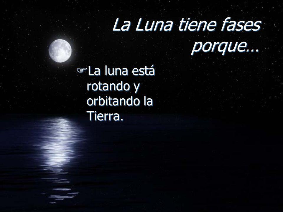 La Luna tiene fases porque…