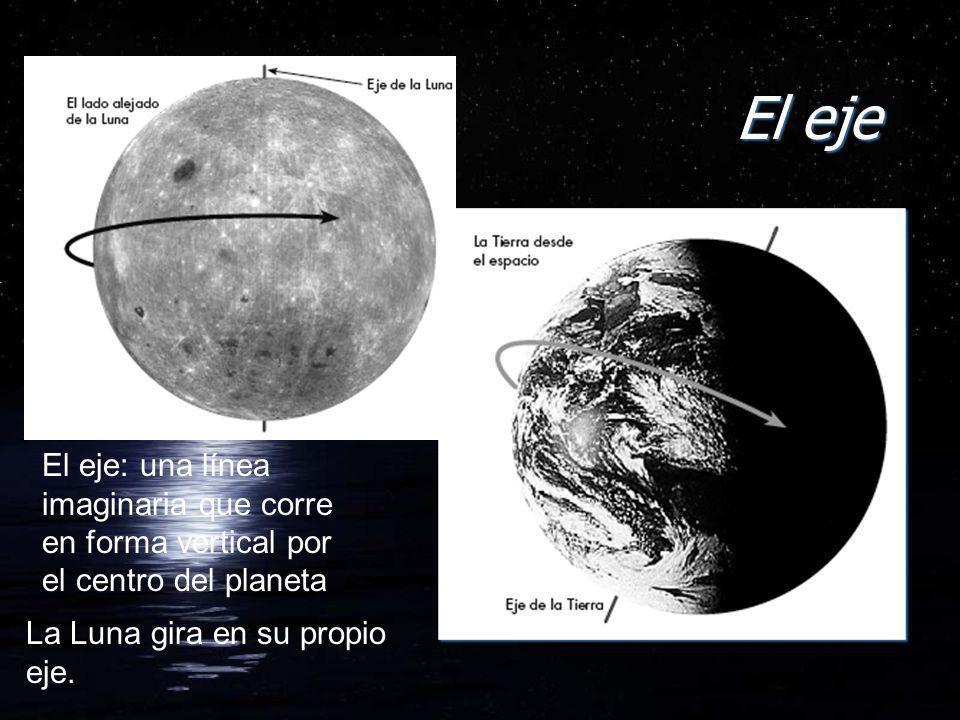 El eje El eje: una línea imaginaria que corre en forma vertical por el centro del planeta.
