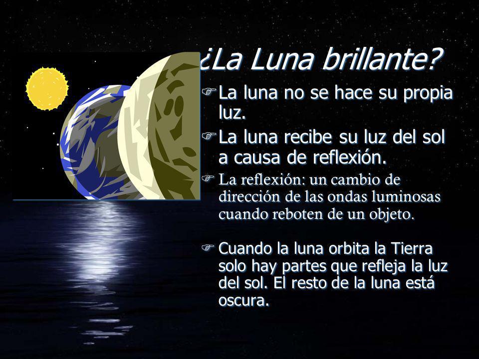 ¿La Luna brillante La luna no se hace su propia luz.