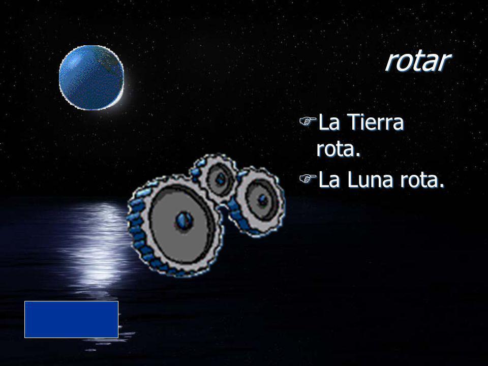 rotar La Tierra rota. La Luna rota.