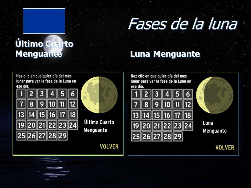 Fases de la luna Último Cuarto Menguante Luna Menguante