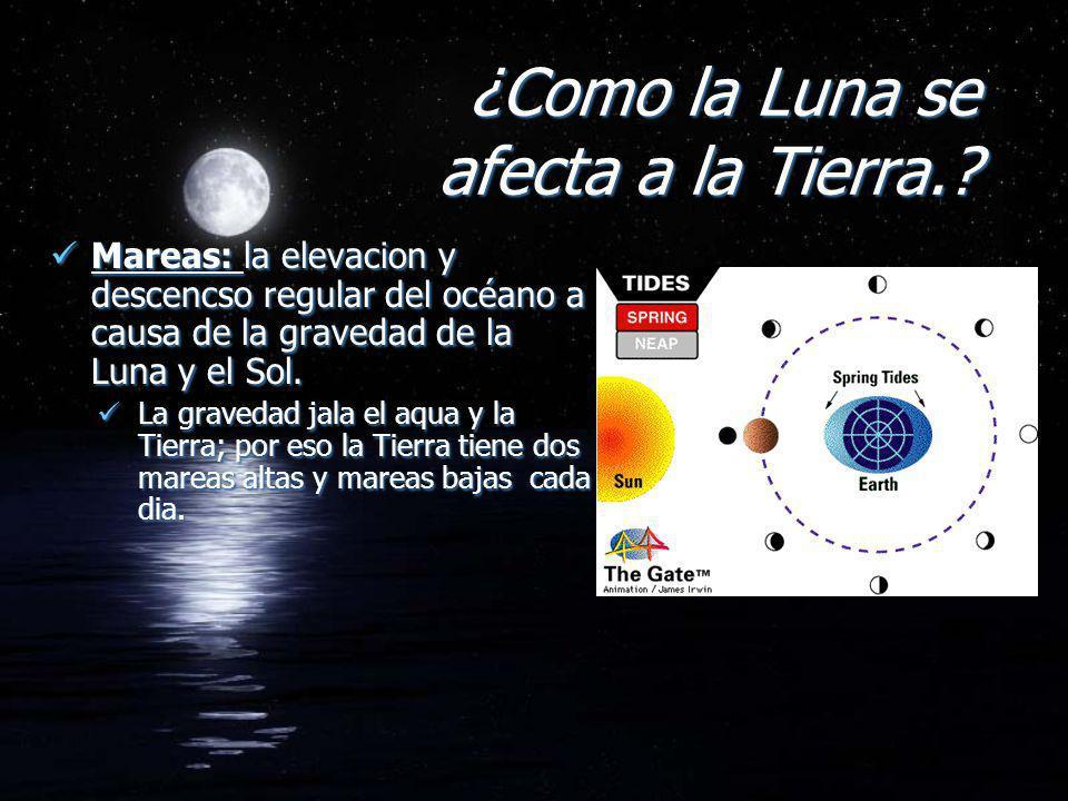 ¿Como la Luna se afecta a la Tierra.