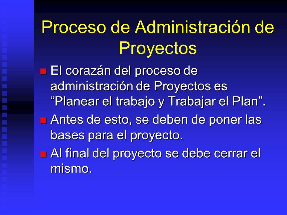 Proceso de Administración de Proyectos