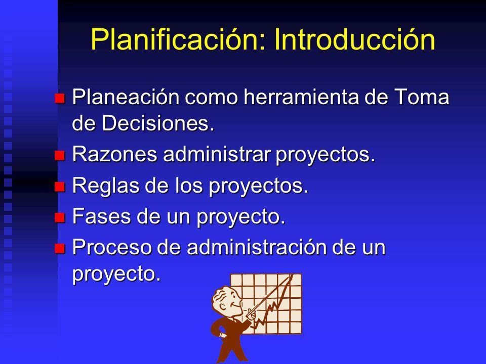 Planificación: Introducción