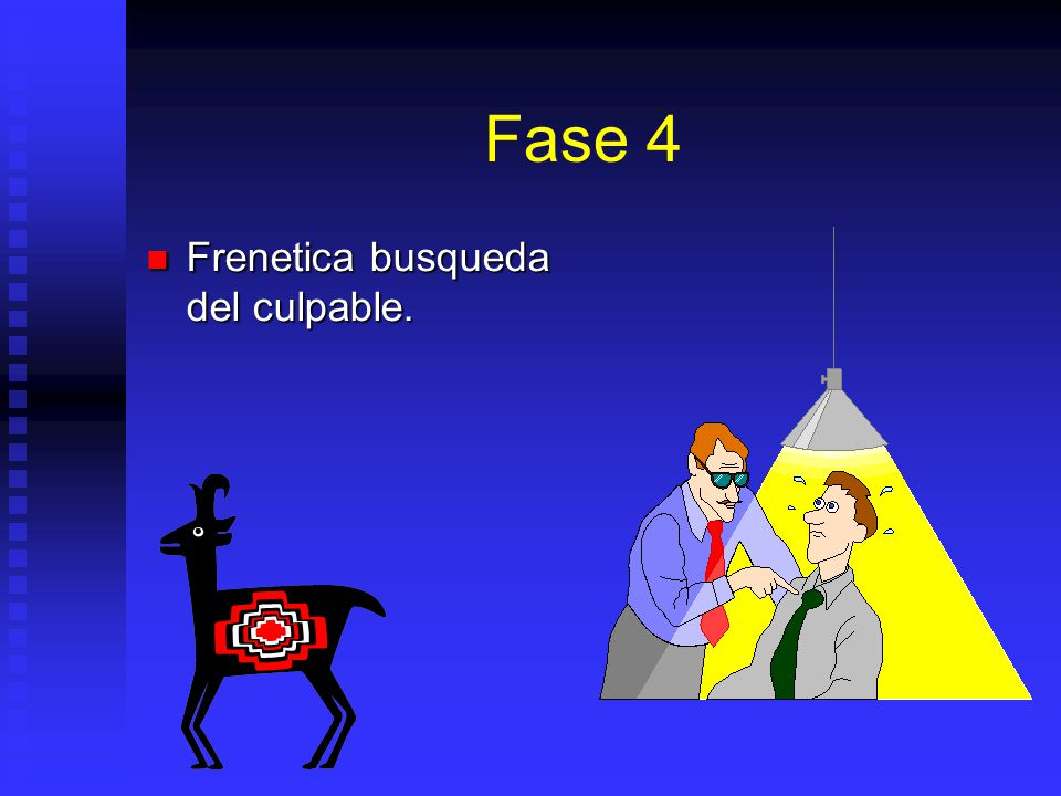 Fase 4 Frenetica busqueda del culpable.
